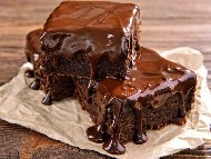 Шоколадов кекс с ликьор и какао (с маргарин)